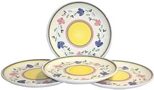 Caleca Giardino 4-Piece Dinner Plate Set, Service for 4