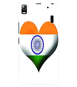 Fuson 3D Printed India Flag Designer Back Case Cover for Lenovo K3 Note - D611