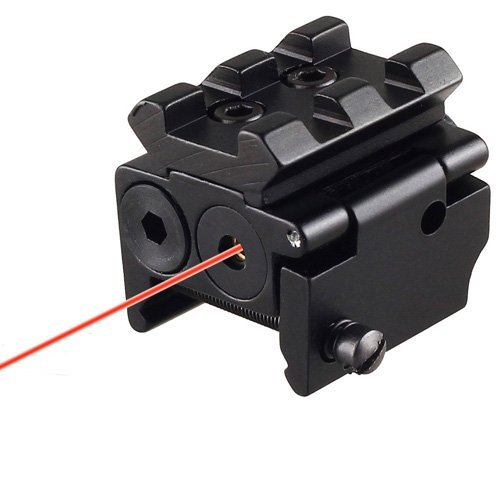 EconoLed Tactical Compact Pistol Low Profile Rifle Red Laser Dot Sight Scope with Rail Mount Black