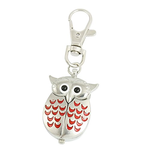ton-argent-red-lobster-clasp-keychain-owl-metal-forme-quartz