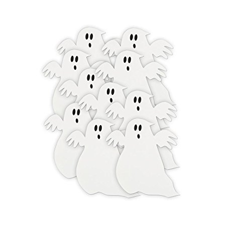 "5"" Paper Cut Out Ghost Decorations, 10ct"