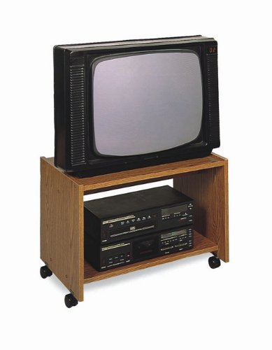 Buy Low Price Oak Finish Wood Tv Stand Cart W Casters