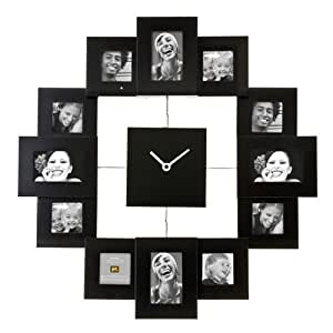 Present Time Present Time Family Time Photo Frame Clock