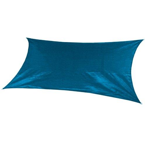 Coolaroo Custom Rectangle Shade Sail, Turquoise,