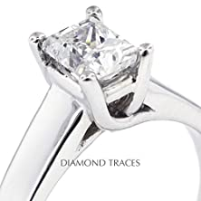 buy 2.05 Carat Rectangular Radiant Natural Diamond Agi Certified J-Vs2 Ideal Cut Platinum 950 4-Prong Setting Trellis Style Solitaire Engagement Ring