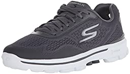 Skechers Performance Men\'s Go Walk 3 Reaction Walking Shoe, Charcoal, 8.5 M US