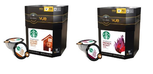32 Count - Starbucks House Blend & French Roast Coffee Vue Cup For Keurig Vue Brewers