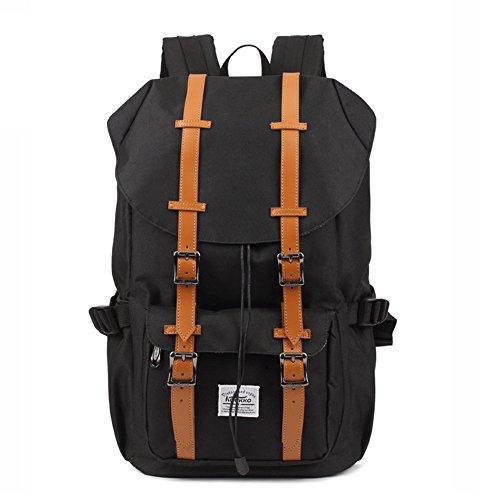 Kaukko Portable Nylon Outdoor Backpack Black