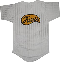 The Warriors Furies Pinstriped Baseball Jersey Costume (Mens X-Large)