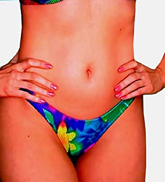Hawaiian Molokai Thong Bikini Bottom at Amazon Women's Clothing