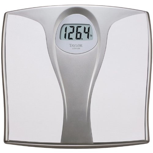 Taylor Precision Lithium Electronic Digital Scale, White