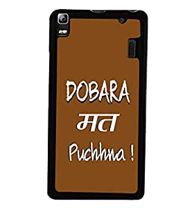 Fuson Premium Dobara Math Puchna Metal Printed with Hard Plastic Back Case Cover for Lenovo K3 Note