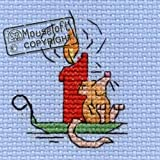 Mouseloft Stitchlet Christmas Card Cross Stitch Kit Contented Mouse