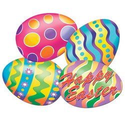 Easter Egg Cutouts Party Accessory (1 count) - 1