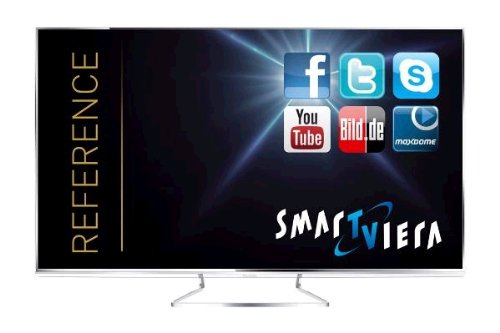 Panasonic TX-L55WTW60 139cm (55 Zoll) Smart VIERA 3D-LED-Backlight-Fernseher, EEK A+ (Full HD, 3600Hz bls, Twin HD Triple Tuner DVB-T/C/S2, 2x CI+, WLAN, USB-Recording, HbbTV)