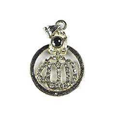 Cubee-Allah Barkat Locket With Quran Readings Printed on Optical Lens with Silver Plated Chain