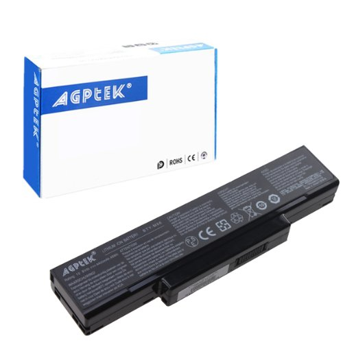 AGPtek� 10.8V, 4400mAh 6 cell Laptop Battery Replacement For Hasee W Series, W750T, W740T, W370T Series, MITAC/IPC: EL80, EL81,BATEL80L6, CBPIL44, GC020009Y00, GC020009Z00, GC02000AM00, ID6, MSI VR600, VR600, CBPIL48, CBPIL72, BTY-M66, HEDY S4101 S4104 S4