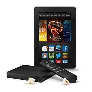 """Amazon Fire TV & Kindle Fire HDX 7"""" Wi-Fi 16GB with Special Offers"""