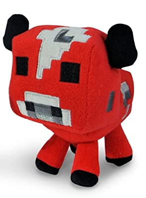 "Just Model Baby Mooshroom Plush"" Minecraft Animal Plush Series Red, Free by Minecraft"