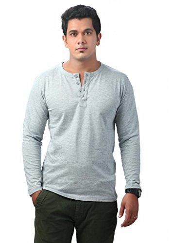 Krook Mens Cotton Gray T-Shirt (Large)