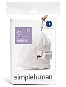 simplehuman - code G, custom fit bin liners, 50 pack