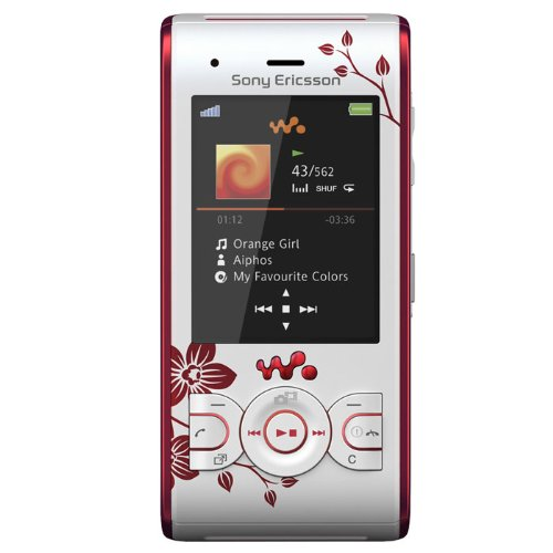 Sony Ericsson W595 Handy (Bluetooth, 3.2MP, 2GB Memory Stick, Walkman, UKW-Radio) Flower-Edition