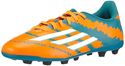 adidas Boy's Messi 104 Fxg J Power Teal F14, Ftwr White and Solar Orange Sports Shoes - 12C UK  available at amazon for Rs.2309