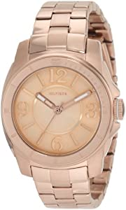Tommy Hilfiger  Women's 1781141 Sport Rose Gold Plated Stainless Steel Bracelet  Watch