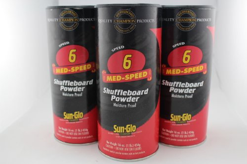 Cheap Sun-Glo Shuffleboard Powder Speed #6 - 3 Pack / Cans