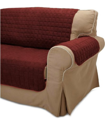 Quilted Micro Suede Pet Furniture Protector Slip Cover Throw Loveseat Burgundy Buy