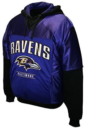 NFL Mens Baltimore Ravens Drive Pullover Jersey Hoodie by MTC Marketing, Inc