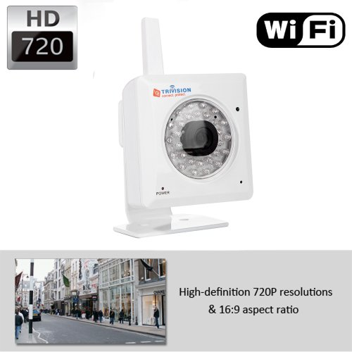 Trivision Nc-228Wf Hd 720P Wireless Ip Security Camera Cctv, 1280 X 720 Hd 720P High Resolution And Install In 3 Steps With Our Free Apps On Iphone, Ipad, Android Smartphone And Tablet.