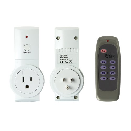 GadgetZone DBPower® Wireless Electrical Remote Control Outlet Sockets with Manual Switch, Pack of 2
