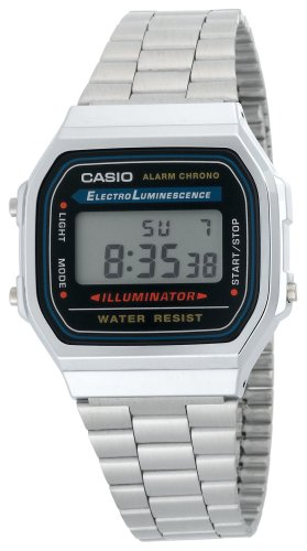 Casio Men's A168W-1 Electro Luminescence Digital Bracelet Watch