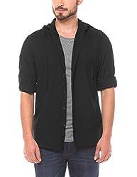 Shuffle Men's Casual Shirt (8907423018112_2021512801_X-Large_Black)