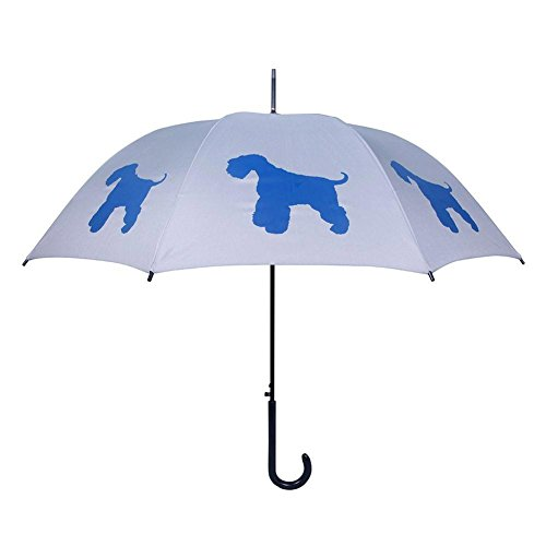 San Francisco Umbrella Co, Blue/Silver Schnauzer Umbrella (Umbrella Company compare prices)