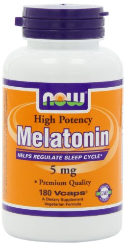 NOW Foods Melatonin 5mg Vcaps, 180 Capsules image