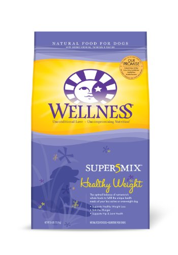 Wellness Super5Mix Healthy Weight Recipe Dog Food, 26-Pound Bag