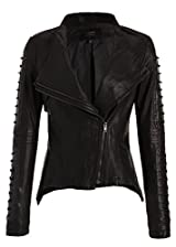 Rocking Black PU Faux Leather Moto Biker Slim Fit Jacket