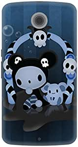 The Racoon Grip Spooky hard plastic printed back case / cover for Google Nexus 6