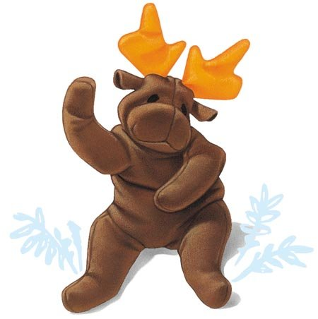 Chocolate the Moose - McDonald's Ty Teenie Beanie MIP - 1997 #04 - 1