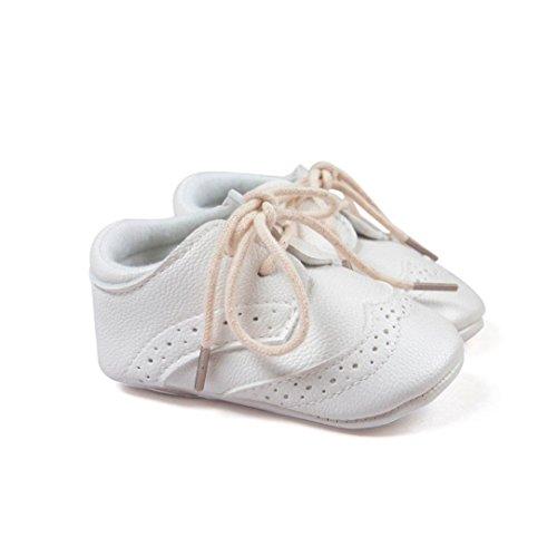 Ecosin-Baby-Lightweight-Soft-Sole-Leather-Shoes-Anti-slip-Crib-Shoes-Latchet-6-12M-White
