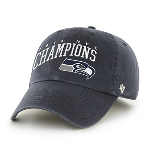 NFL Seattle Seahawks '47 Brand 2014 NFC Conference Champions Clean Up Adjustable Hat, Navy, One Size (Nfc Champions Seattle Seahawks compare prices)