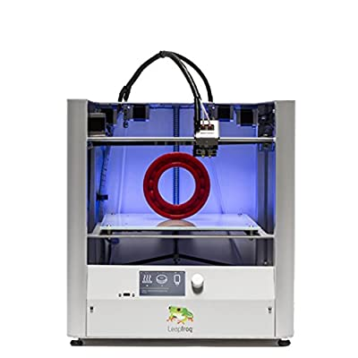 "Leapfrog Creatr HS 3D Printer, Dual Extruder, 11.8"" x 9"" x 7"" Build Volume"