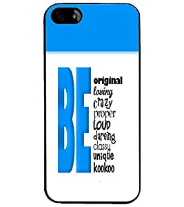 PrintDhaba Quote D-5741 Back Case Cover for APPLE IPHONE 5S (Multi-Coloured)