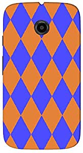 Timpax protective Armor Hard Bumper Back Case Cover. Multicolor printed on 3 Dimensional case with latest & finest graphic design art. Compatible with Motorola Moto -E-2 (2nd Gen )Design No : TDZ-22303