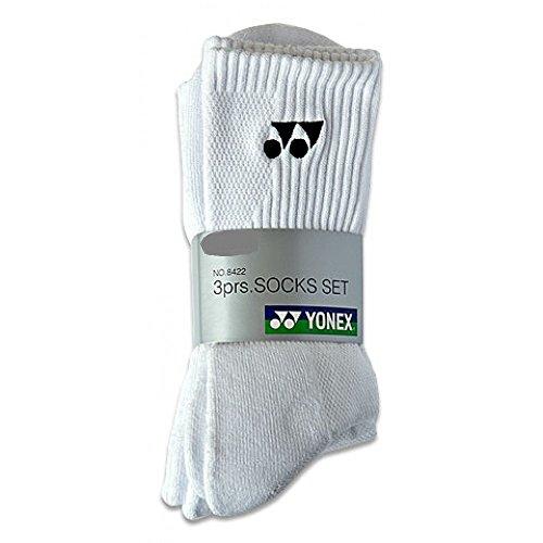 YONEX-Calzini sportivi bianco 84223Pack, taglia 44-47, L