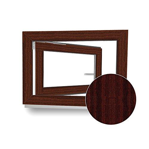 kellerfenster kunststoff fenster braun mahagoni holzoptik wei bxh 60 x 40 cm din. Black Bedroom Furniture Sets. Home Design Ideas