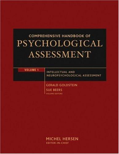 Comprehensive Handbook of Psychological Assessment, Intellectual and Neuropsychological Assessment (Volume 1)