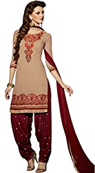 Amigos Fashion Women's Georgette Unstitched Dress Material (AF104)